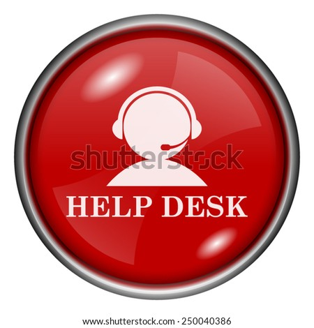 Help desk icon. Internet button on white background.  - stock vector