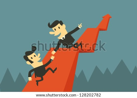 Help each other - stock vector