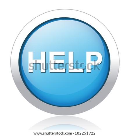 help icon - stock vector