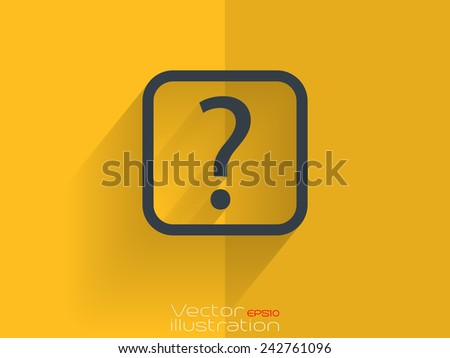 Help icon on yellow background - stock vector