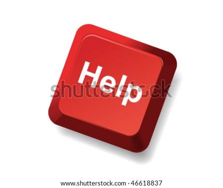 help key - stock vector