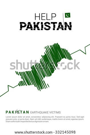 Help Pakistan Poster Template Earth Quake Stock Vector (Royalty Free ...