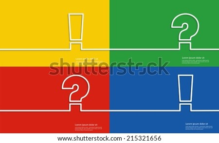 Help symbols, Question mark and Exclamation mark. - stock vector