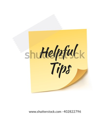 Helpful Tips Stick Note Vector Illustration