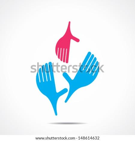 helping hand icon vector  - stock vector