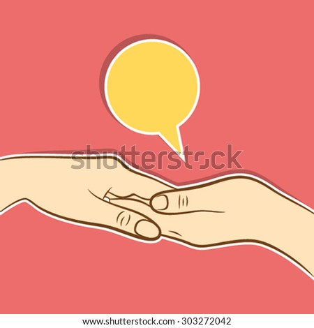 helping hand or support hand concet design vector - stock vector