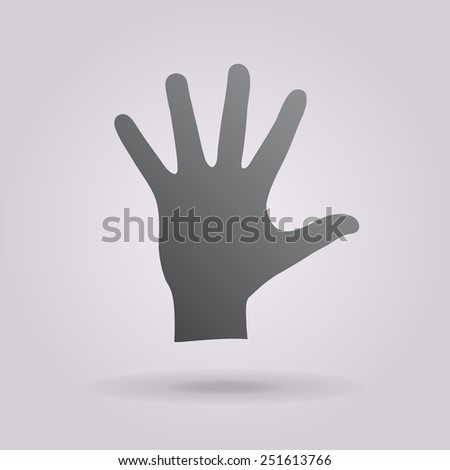 Helping hand silhouette - stock vector