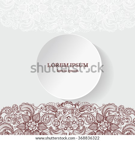 Henna flowers mehndi design vector element stock vector hd royalty henna flowers mehndi design vector element with text place for invitations and cards stopboris Gallery