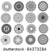 Henna mandala design - Very detailed and easily editable - stock vector