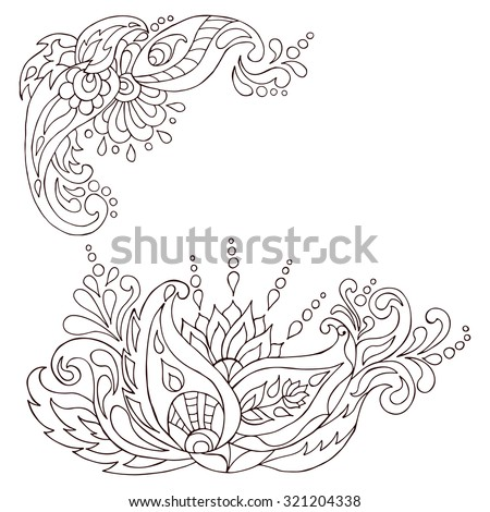 Henna Tattoo Doodle Vector Elements Mehndi Design For Hands Indian Persian And Turkish