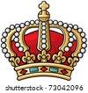 heraldic crown - stock vector