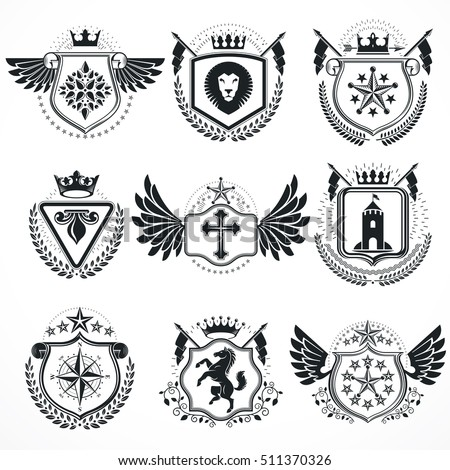Lion Crest Stock Images, Royalty-Free Images & Vectors ...