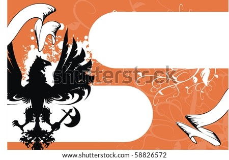 heraldic eagle background in vector format
