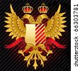 heraldic illustration with double-headed eagle - stock photo
