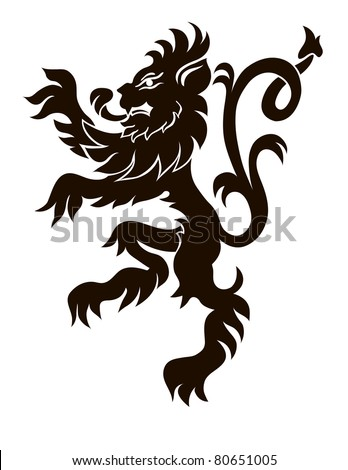 heraldic lion in isolation for your design - stock vector