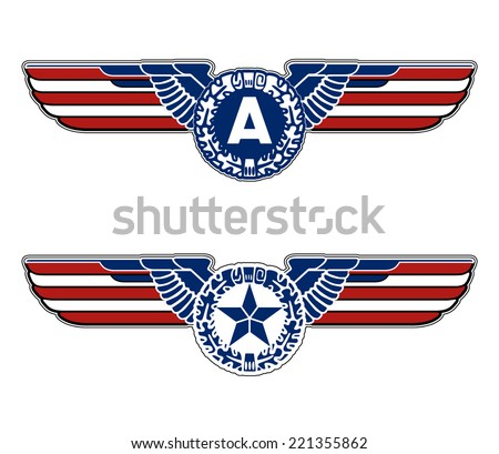heraldry eagle wings Creative background abstract patriotism. USA Happy Independence memorial Day. Patriot vector Illustration. - stock vector