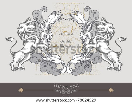 heraldry - shields and garland - stock vector