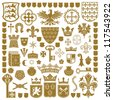 HERALDRY Symbols and decorations - stock photo