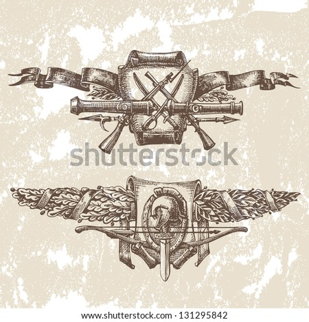 Heraldry, vector - stock vector