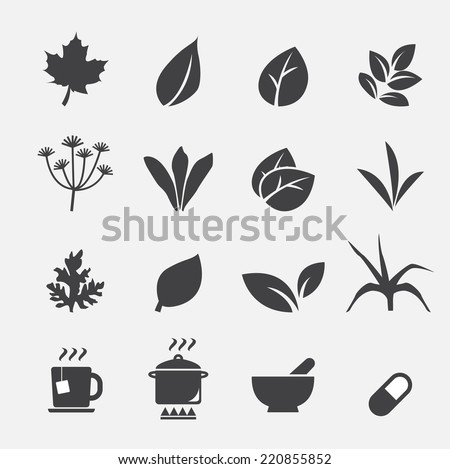 herb icon - stock vector