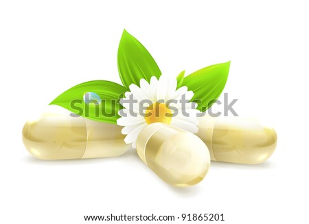 Herbal medicine, 10eps - stock vector