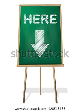 here green black board - stock vector