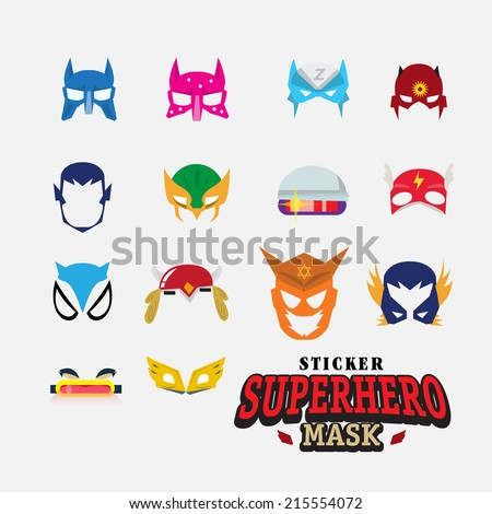 hero mask. face character - vector illustration - stock vector