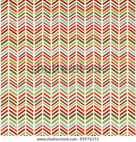 Herringbone Christmas seamless pattern - stock vector