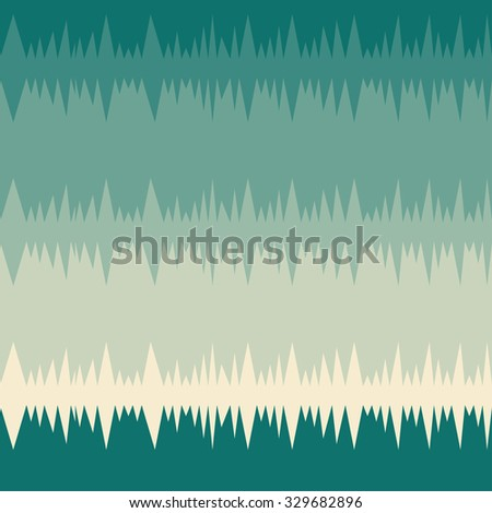 Herringbone striped seamless pattern in turquoise and beige colors. Vector illustration. - stock vector
