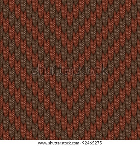 Herringbone textured weaving fabric background. Seamless pattern. Vector. - stock vector