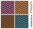 Herringbone Tweed dimensional seamless pattern in four colorways. Colors are grouped for easy editing. - stock photo