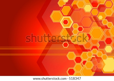 Hexagon background - stock vector