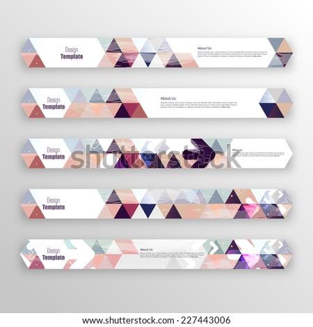 Hexagon Banner set. Creative, trendy, minimalstic design. - stock vector
