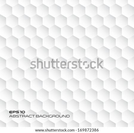 Hexagon geometry texture, abstract background, seamless vector - stock vector