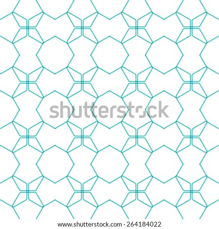 Hexagon line pattern. Repeat ornament.