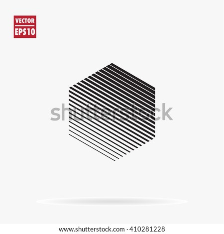 Hexagon Logo Template Unusual Flat Icon Stock-Vektorgrafik 410281228 ...