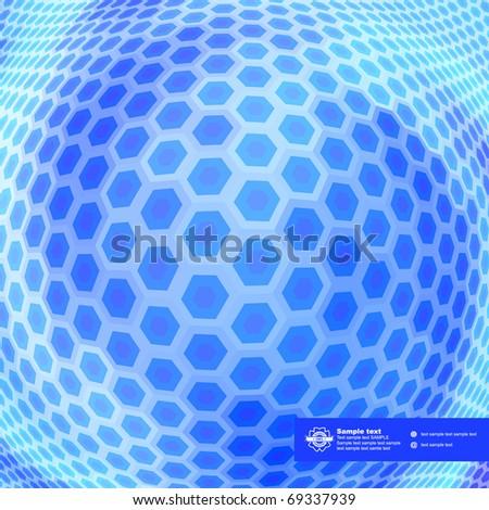 Hexagon mosaic. Abstract illustration. - stock vector