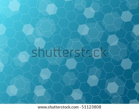 Hexagon pattern - stock vector