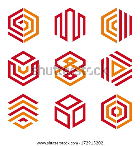 hexagon logo stock photos images amp pictures shutterstock