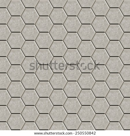 Hexagon tiles  pattern for decoration and design tile floor. Seamless pattern. Vector illustration - stock vector