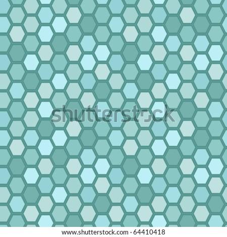 Hexagon tiles. Seamless vector pattern - stock vector