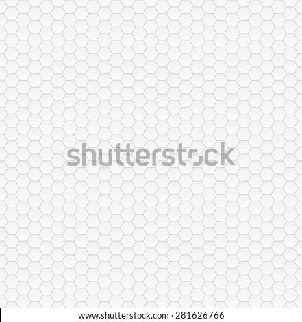 Hexagonal seamless gray  vector pattern - stock vector