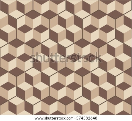 Hexagonal tiles optical illusion decor floor stock vector hd hexagonal tiles with optical illusion decor floor and wall texture vintage style pattern for ppazfo