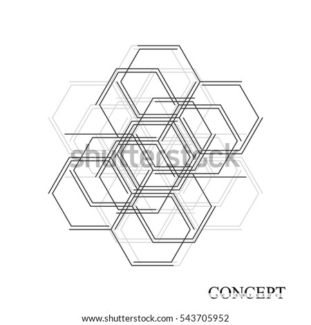 stock vector hexagons abstract background geometric science and technology motion design digital data 543705952 hexagon background stock images, royalty free images & vectors on science abstract template