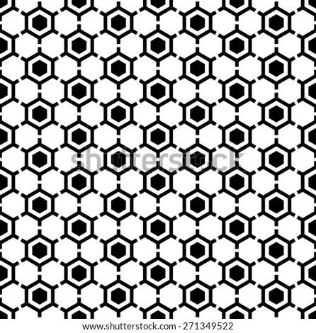 Hexagons pattern. Seamless geometric texture. Vector art. - stock vector