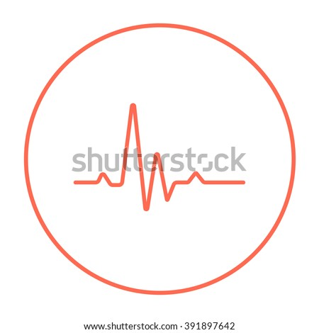 Hheart beat cardiogram line icon. - stock vector
