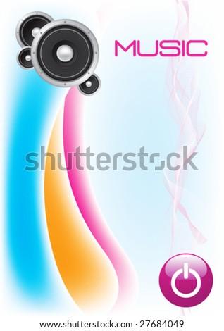 HI-FI Stereo Speaker Background -Vector Art- - stock vector