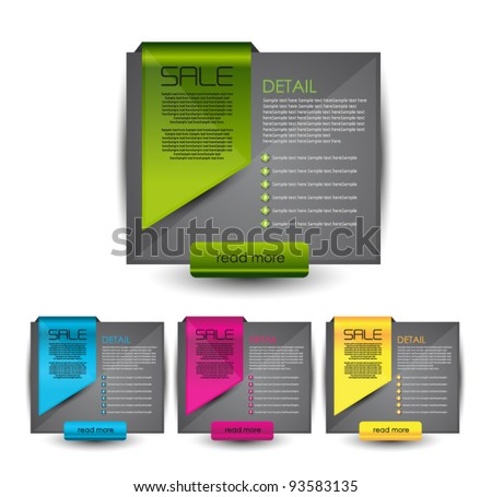hi quality elements for web sale and advertisement - stock vector
