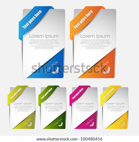 hi quality web banners for sale and advertisement - stock vector