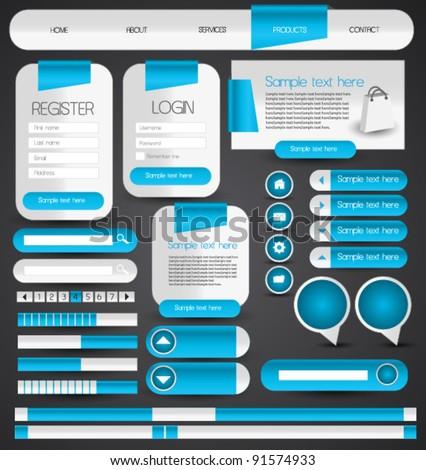 hi quality web designing element set - stock vector